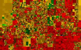 100,000 rows - heatmap of Java source code